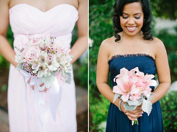 Pink Bridesmaid Bouquets Kimberly Chau Photography Glamour Grace