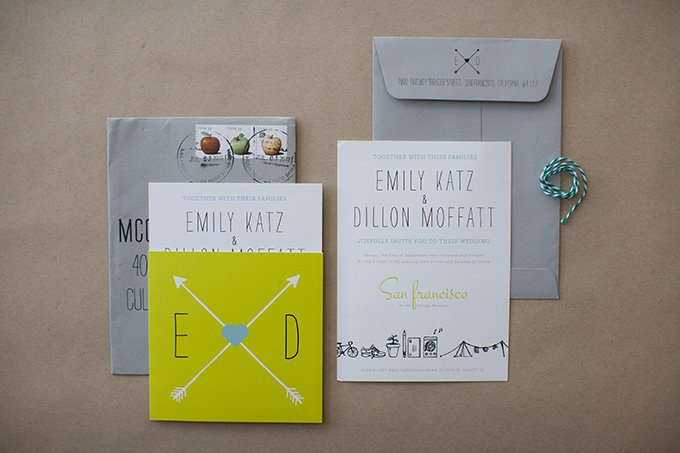 modern wedding invitations | Diana McGregor Photography | Glamour & Grace