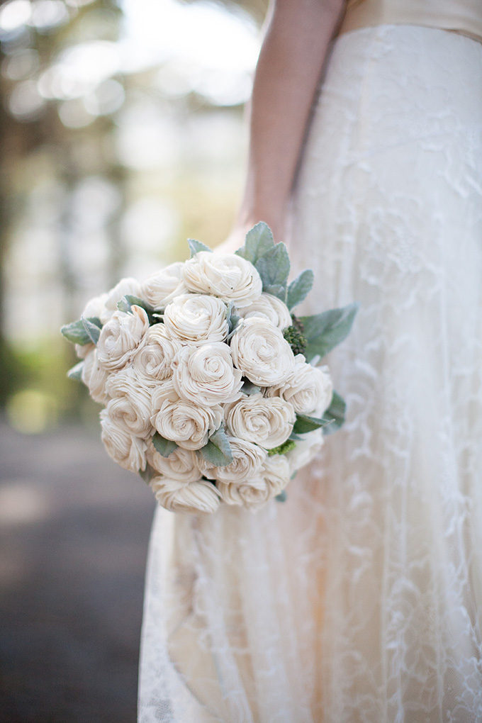balsa wood bouquet | Diana McGregor Photography | Glamour & Grace
