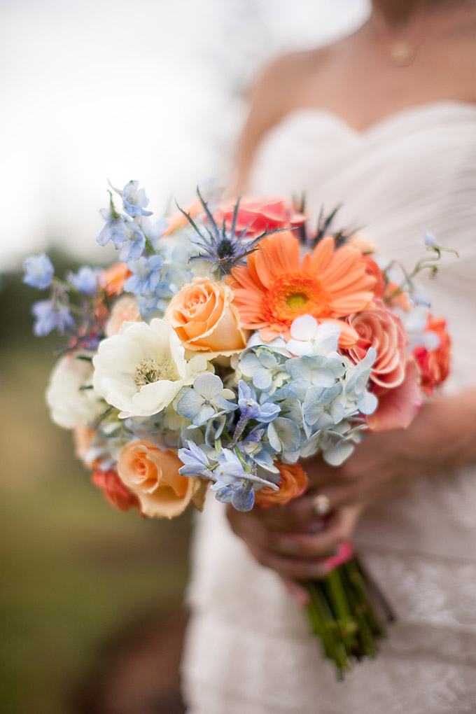 colorful bouquet | Katherine Stinnett Photography | Glamour & Grace