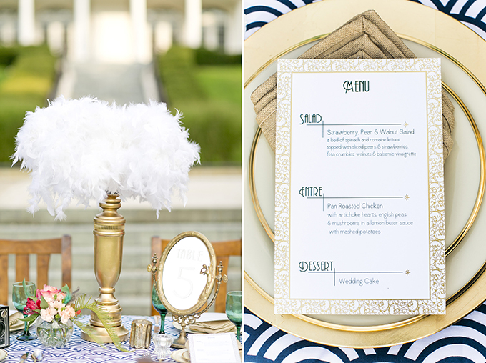 modern art deco wedding inspiration | Mary Fields Photography | Glamour & Grace