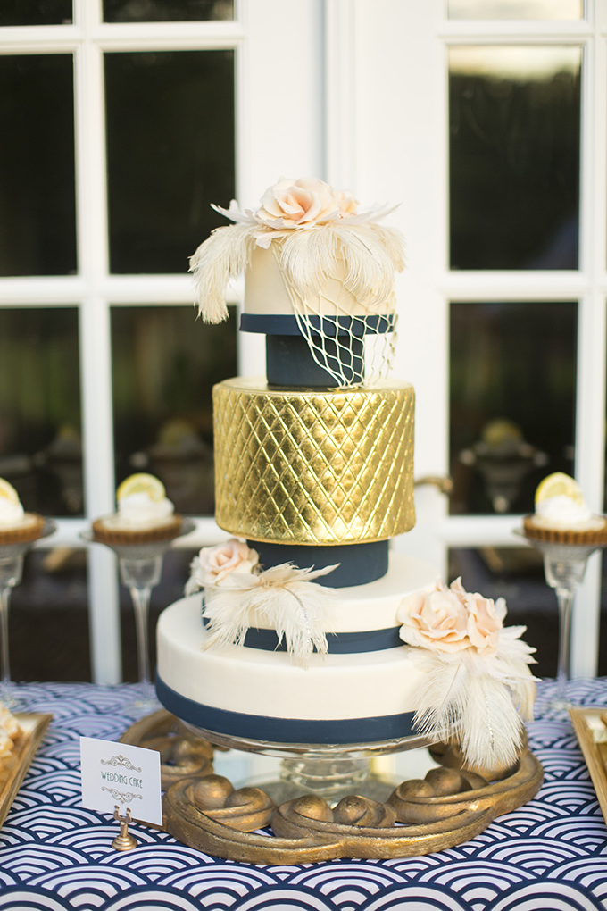 art deco cake | Mary Fields Photography | Glamour & Grace