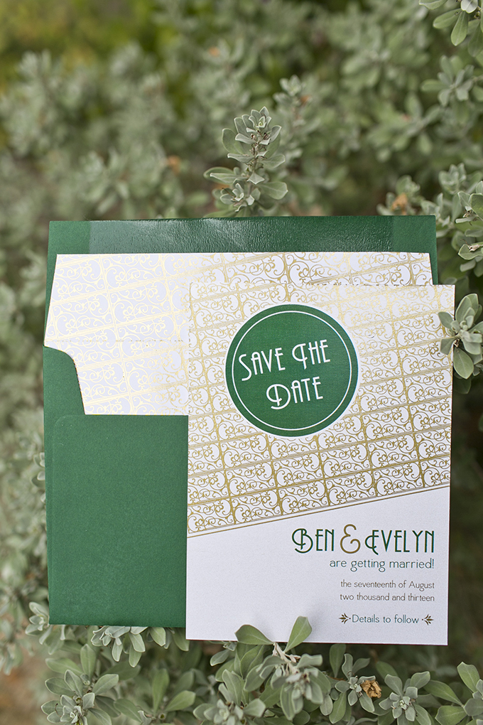 vintage save the date | Mary Fields Photography | Glamour & Grace