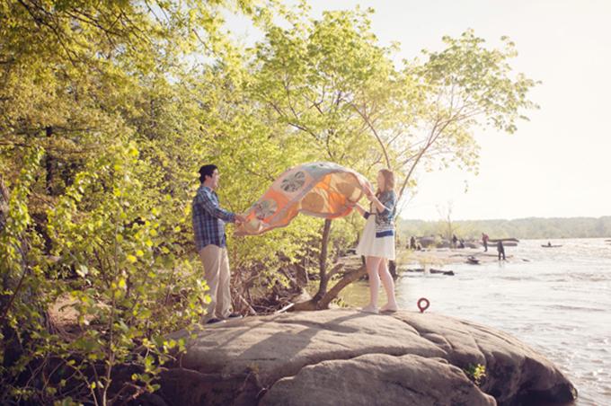 picnic engagement session | Audra Wrisley Photography + Design | Glamour & Grace
