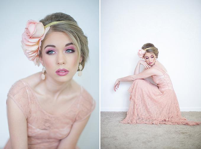 romantic pink bridal shoot | Shalynne Imaging | Glamour & Grace