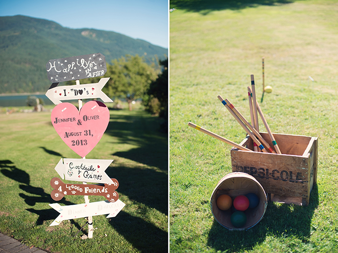 wedding signage and lawn games | Melissa Gidney Photography | Glamour & Grace