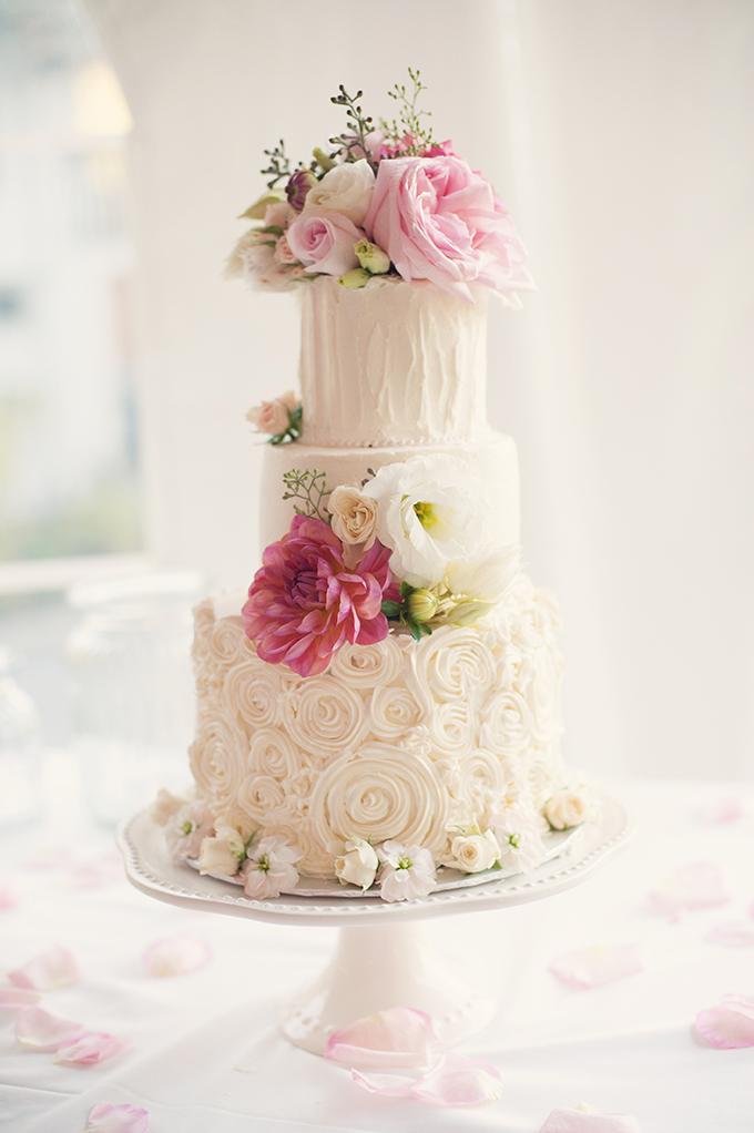 romantic pink cake | Melissa Gidney Photography | Glamour & Grace