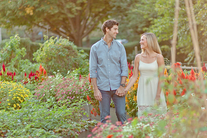 garden engagement session | Jamie Lefkowitz Photography | Glamour & Grace