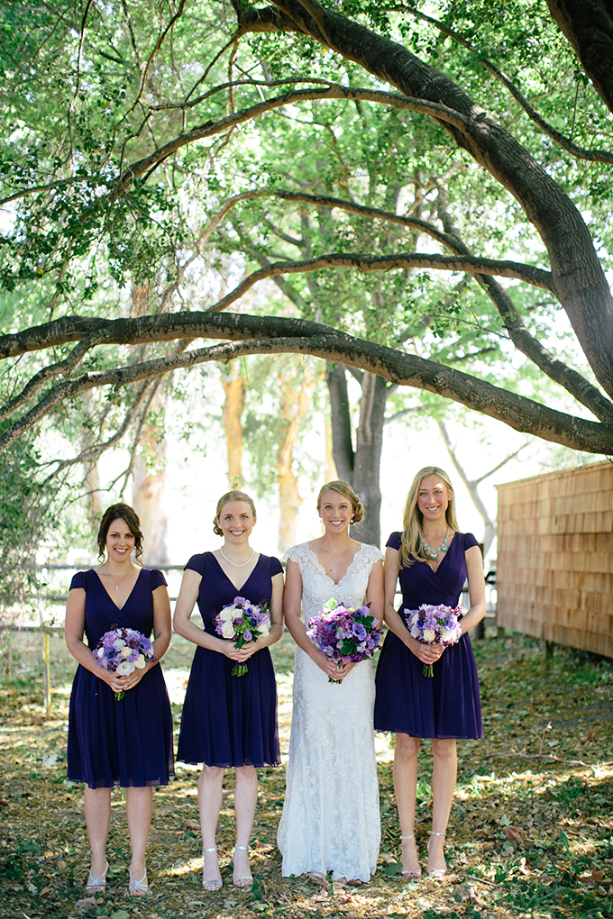 purple bridesmaids | ashley tingley photography | Glamour & Grace