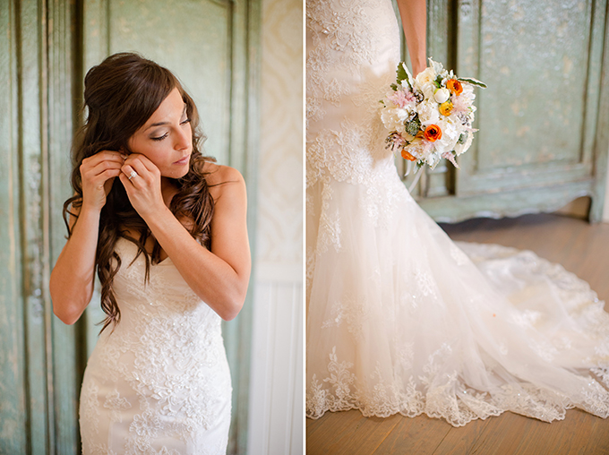 bride getting ready | Katelyn James Photography | Glamour & Grace