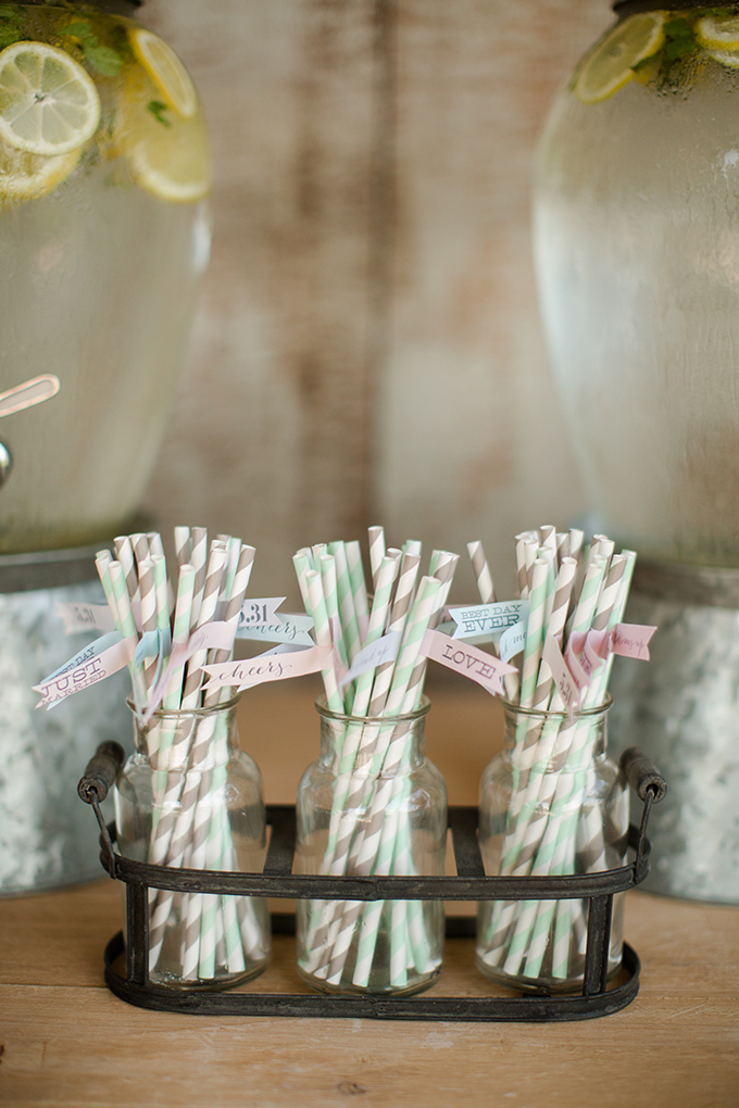stripe straws | Katelyn James Photography | Glamour & Grace