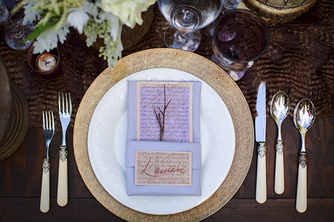 rustic place setting | Mischa Photography | Glamour & Grace
