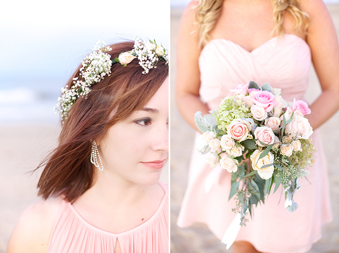 pink bridesmaids crown and bouquets | Kacie Lynch Photography | Glamour & Grace