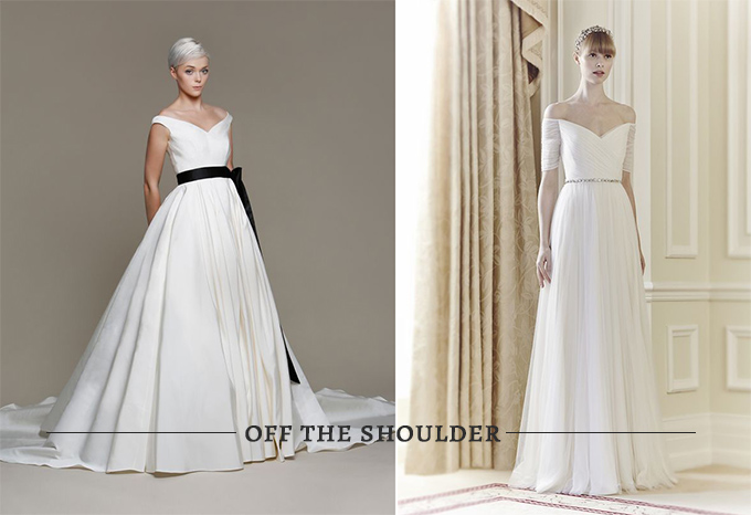 Get the vintage look jackie o glamour grace jackie o wedding look off the shoulder gowns junglespirit Choice Image