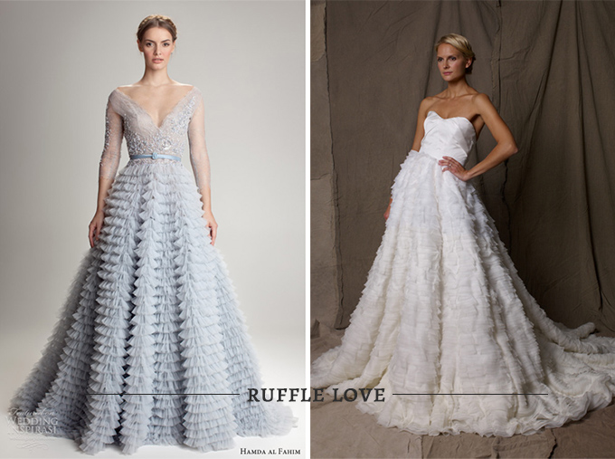 Vintage Ruffle Wedding Dress 28 Good Jackie O wedding look
