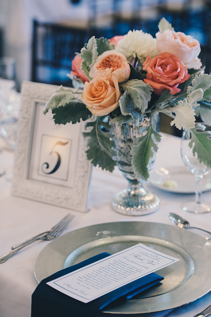 peach centerpieces | Katie Slater Photography | Glamour & Grace