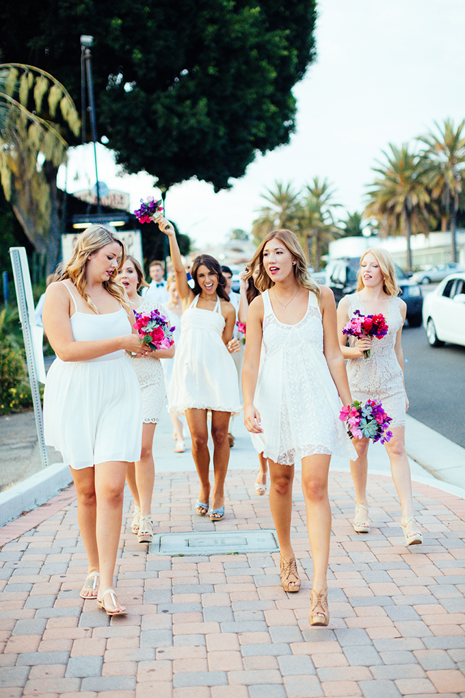 white bridesmaids | Snapmotive | Glamour & Grace
