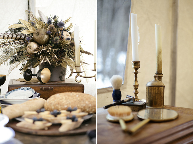 winter bohemian bride | Michelle Larmand Photography | Glamour & Grace