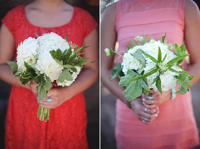 white bridesmaid bouquets | Nakalan McKay Photography | Glamour & Grace