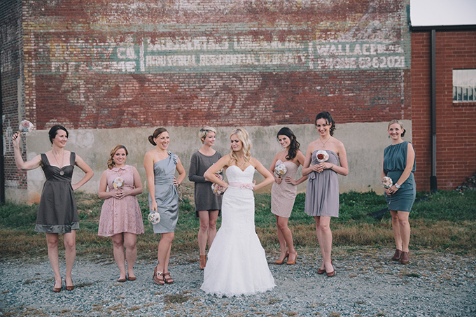 neutral bridesmaids | Sara Bee Photography | Glamour & Grace