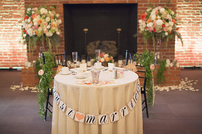 adorable sweetheart table | Brooke Courtney Photography | Glamour & Grace