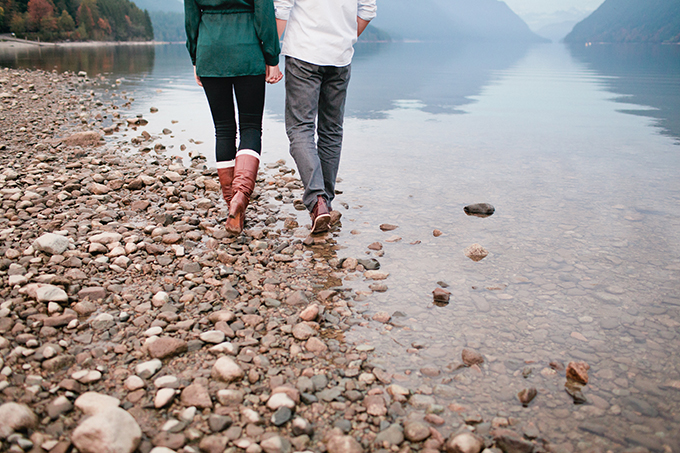 mountainside lake engagement | Marie Skerl Photography | Glamour & Grace