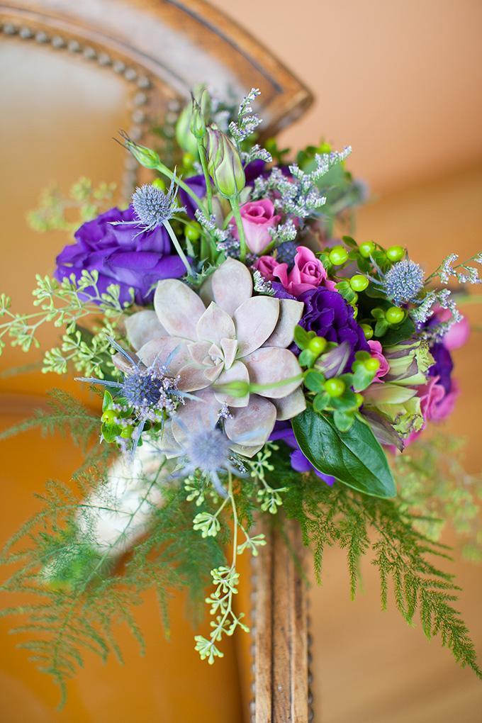 purple bouquet | Jamie Zanotti Photography | Glamour & Grace