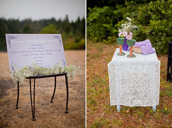 purple DIY lakeside wedding | Jamie Zanotti Photography | Glamour & Grace