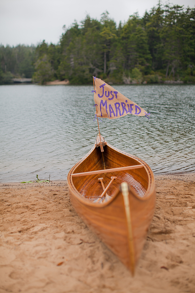 just married canoe | Jamie Zanotti Photography | Glamour & Grace