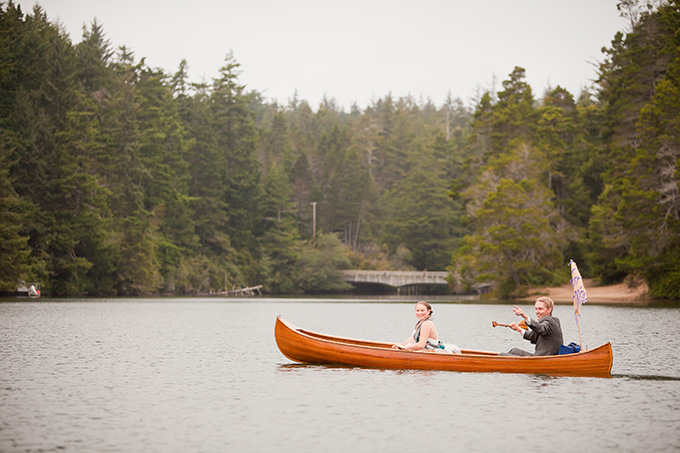 first canoe ride instead of a first dance | Jamie Zanotti Photography | Glamour & Grace