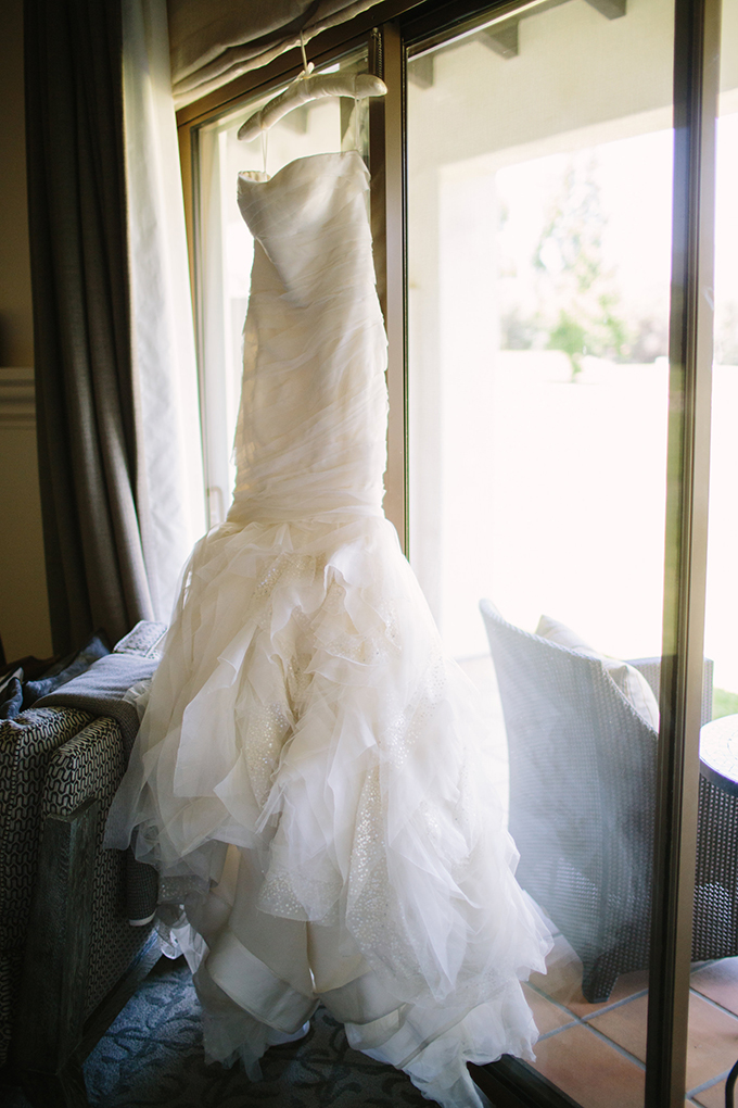 Vera Wang gown | Driver Photo | Glamour & Grace