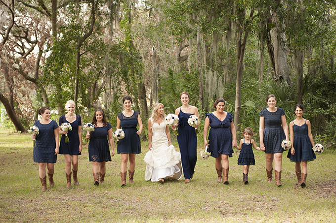 navy bridesmaids | Stephanie A Smith Photography | Glamour & Grace