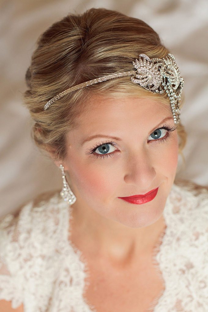 rhinestone headpiece | Kimberly Salem Photography | Glamour & Grace