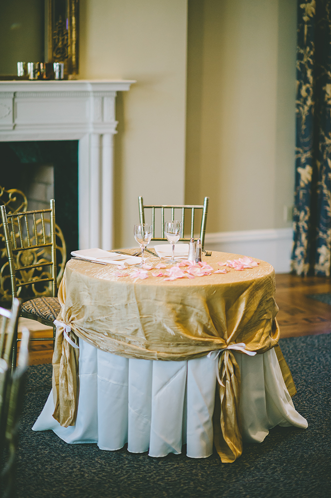 sweetheart table | VO Photographers | Glamour & Grace