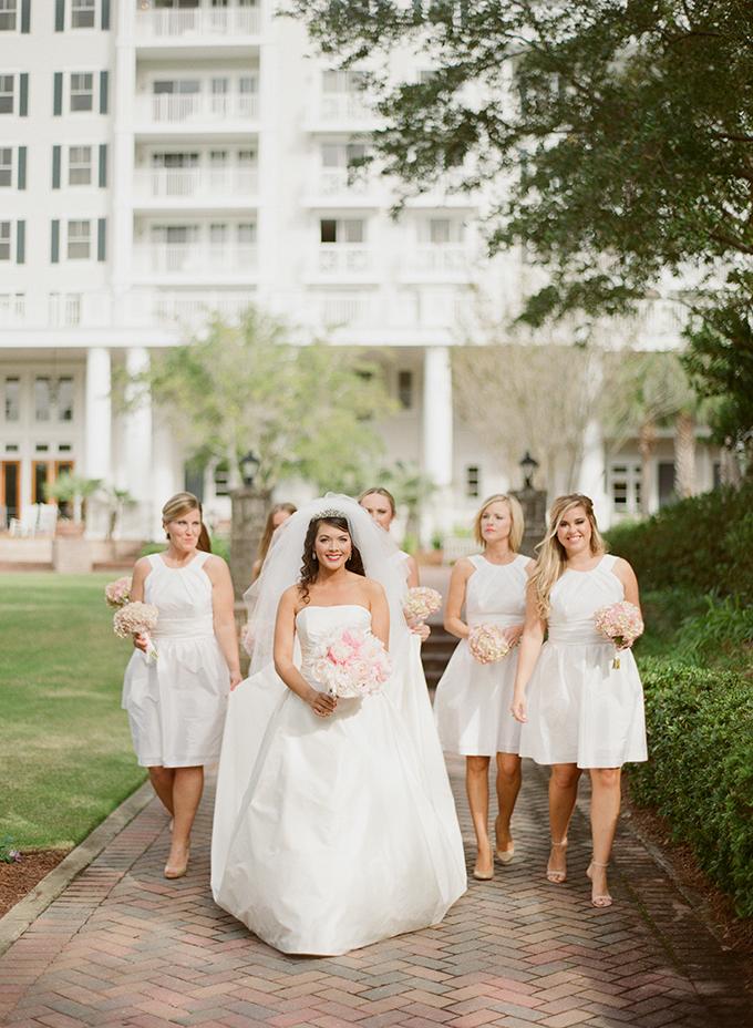 classic white bridesmaids | Pure 7 Studios | Glamour & Grace