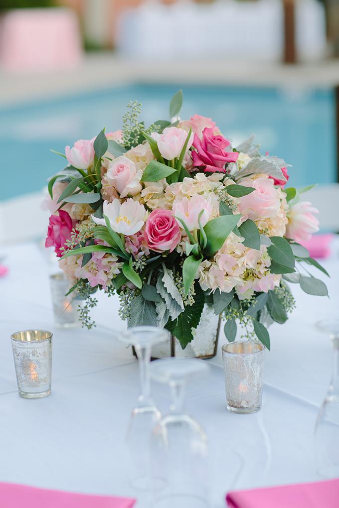 pink centerpieces | Pure 7 Studios | Glamour & Grace