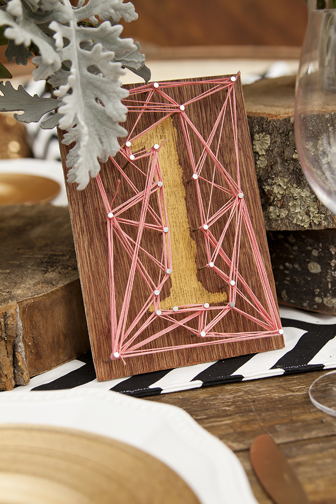 string art table number | Candice Patrice Photography | Glamour & Grace