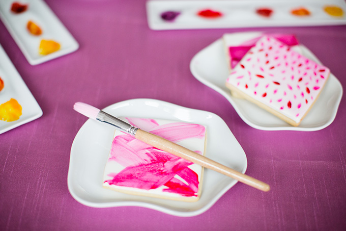 cookie painting station | Asya Photography | Glamour & Grace
