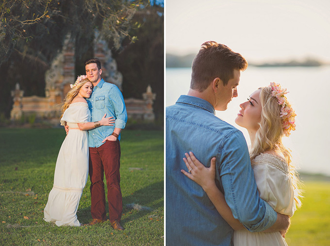 romantic garden engagement | Kimbrali Photography | Glamour & Grace