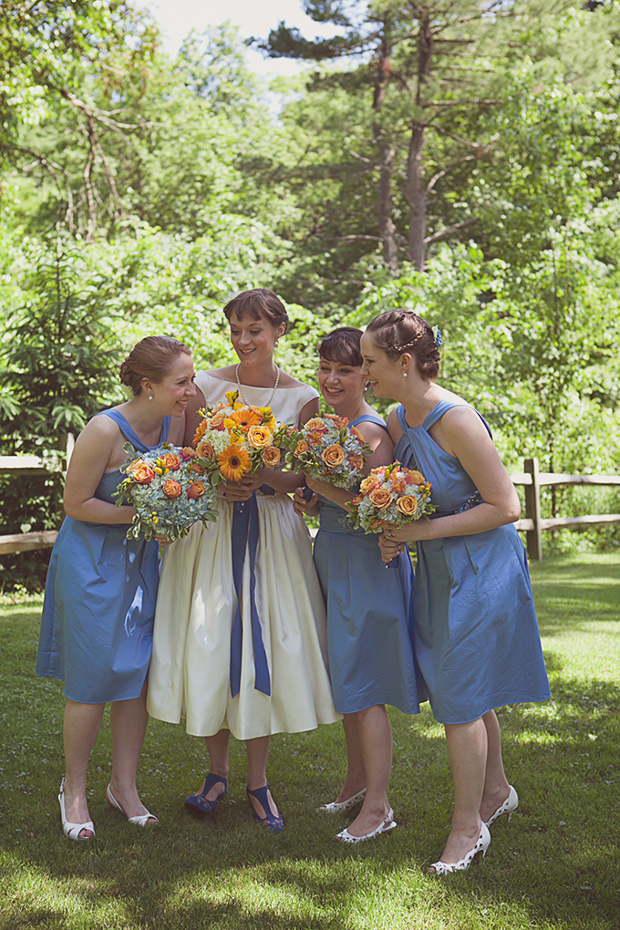 blue bridesmaids | Brigham & Co. | Glamour & Grace