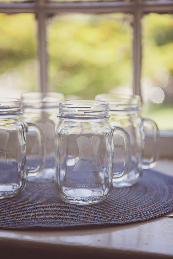 custom mason jar mugs | Brigham & Co. | Glamour & Grace