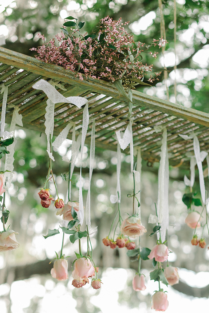 rose chandelier | Catherine Ann Photography | Glamour & Grace