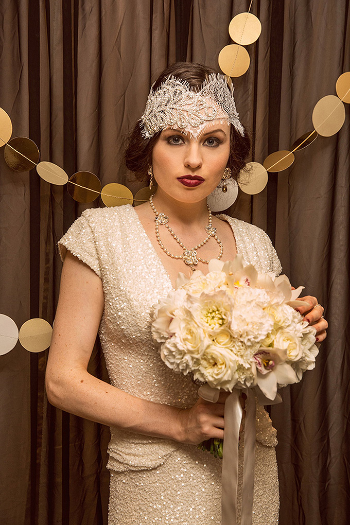 vintage lace headpiece | Catch Studio | Glamour & Grace