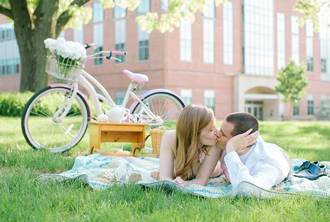 cute bike engagement   Photos by Sarah Beth   Glamour & Grace