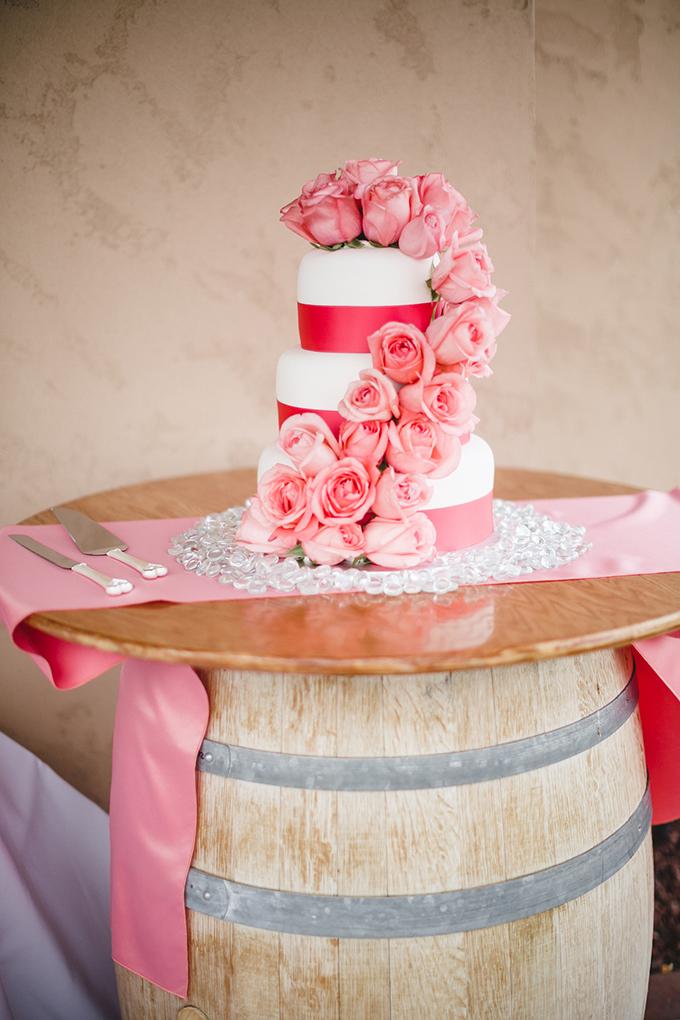 pink cake | Jacquelynn Brynn Photography | Glamour & Grace