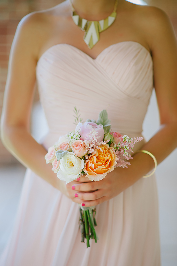 pink bridesmaid's bouquet | Candi Coffman Photography | Glamour & Grace