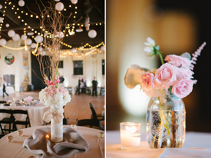 romantic rustic centerpieces | Candi Coffman Photography | Glamour & Grace