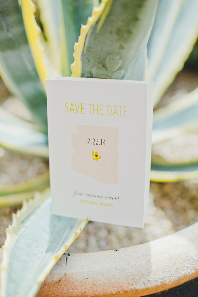 cute Arizona save the date | Elyse Hall Photography | Glamour & Grace