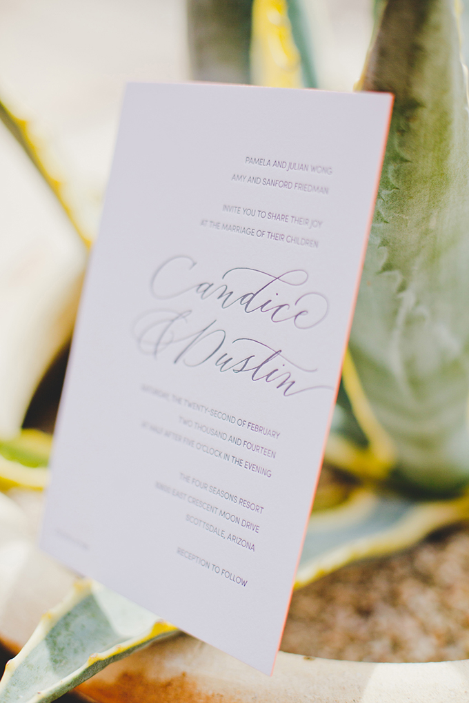 calligraphy invitation | Elyse Hall Photography | Glamour & Grace