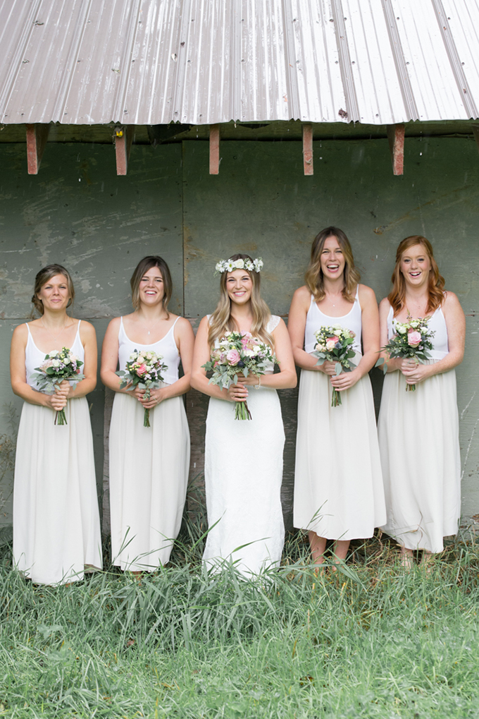 white bridesmaids | Christie Graham Photography | Glamour & Grace